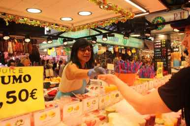 Handel in der Markthalle von Barcelona