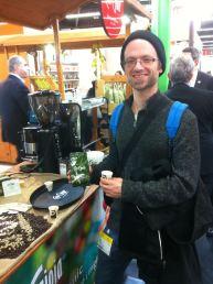 Verkostung von grünem Kaffe