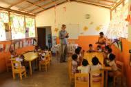 Eine Vorschule, die die SOFA mit fair trade Geldern finanziert hat