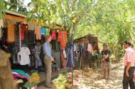 Ein Textilgeschäft, das durch Fair Trade Prämien unterstützt wurde