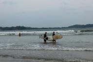 Patrice beim Surfen