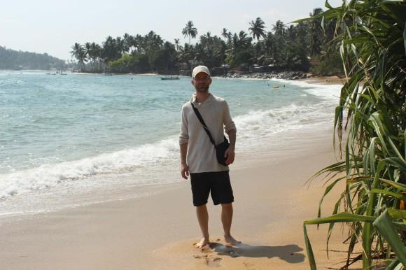 Beim Strandspaziergang in Mirissa